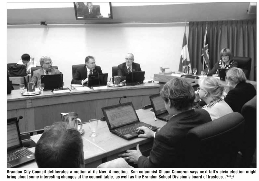 Columnist Shaun Cameron looks at the potential changes to council and around the trustee table in 2014