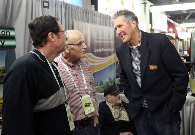 Brian Pallister at AgDays in Brandon/ Tim Smith-BrandonSun.com
