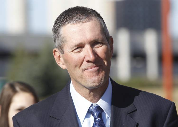 Progressive Conservative leader Brian Pallister speaks recently. (File-Winnipeg Free Press)