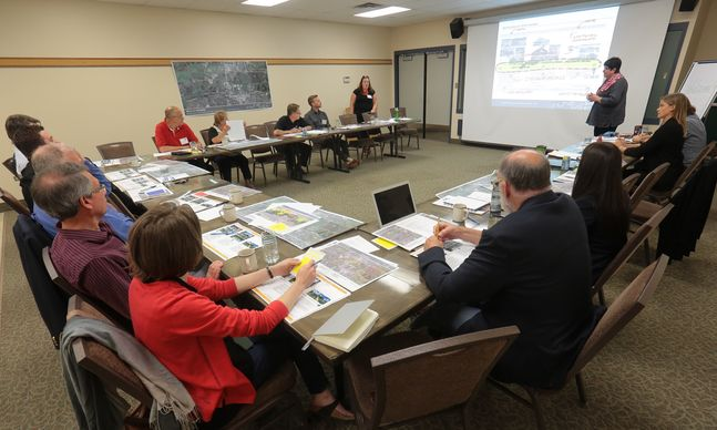 "Community members gathered to discuss the redevelopment of the Riverbank Corridor and to provide input into the new master plan during a brainstorming session at the Riverbank Discovery Centre in August. The preliminary master plan — called ""Back to the River"" — was released to the public Monday."