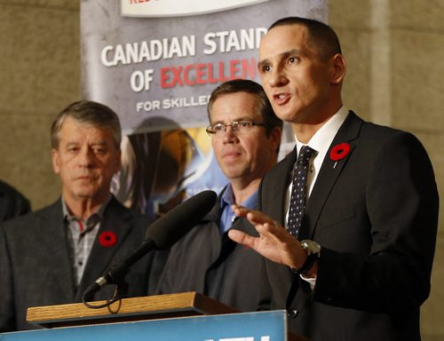 Kevin Chief speaks to media during a recent event. WinnipegFreePress.com (file)
