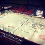 View from above An hour till puck drop at thehellip