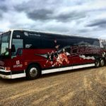 ACCMB Cougars bus against a blustery sky at shilocc today!hellip
